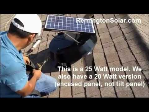 Remington Solar Attic Fan Installation
