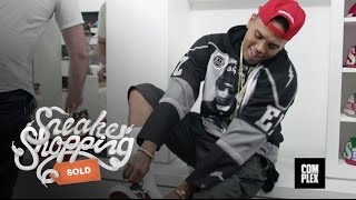 Chris Brown Goes Sneaker Shopping With Complex