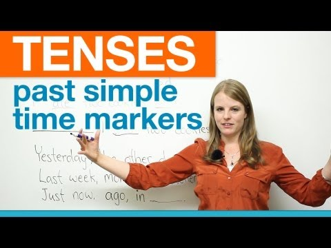 English Grammar: Past Simple Time Markers