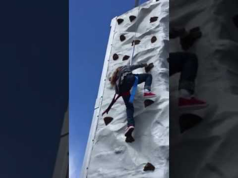 6 yr old concours rock wall