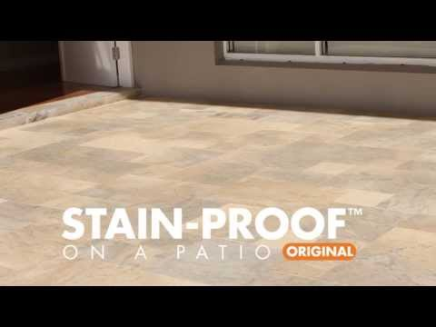 Applying STAIN-PROOF™ Original on a Marble Patio
