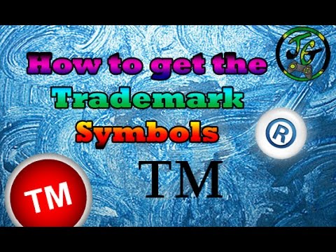 How to get the Trademark symbols ™ and ®