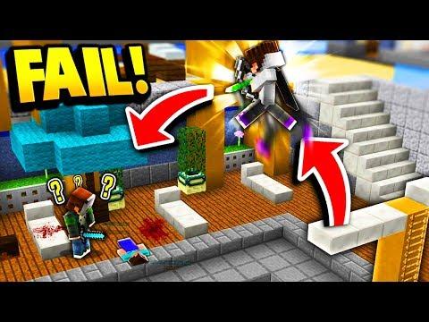 DIVING BOARD TRICK SHOT FAIL! (Minecraft Murder Mystery)