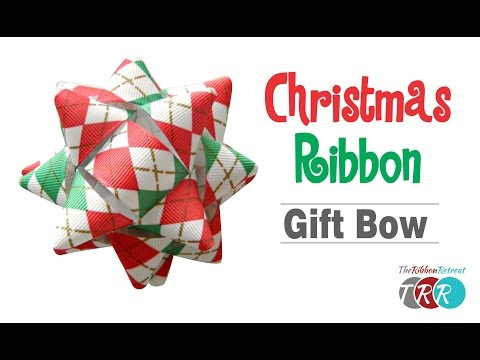 How to Make a Christmas Ribbon Gift Bow - TheRibbonRetreat.com