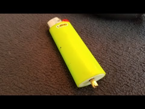 Tutorial: How to install a refill valve on a BIC lighter. Must watch!!