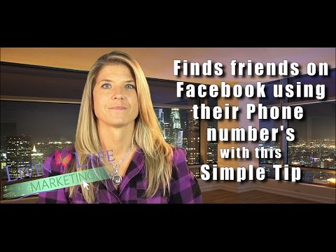 Find Friends on Facebook using their phone number
