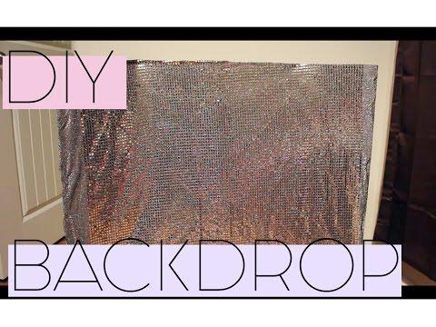 DIY BACKDROP   UNDER $10   HOW TO MAKE A BACKDROP