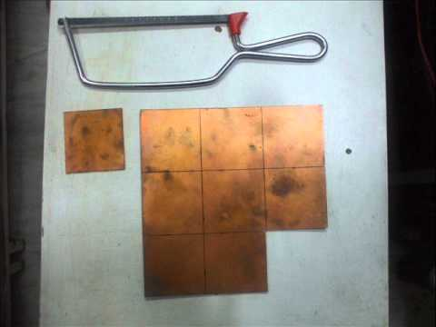 How to cut Copper Clad PCB.wmv