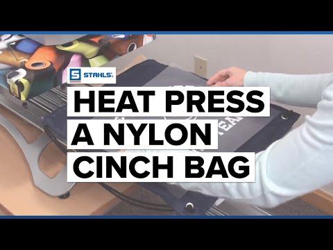 How to Heat Press a Nylon Cinch Bag