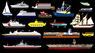 Water Vehicles (Updated) - Boats & Ships - The Kids' Picture Show (Fun & Educational Learning Video)