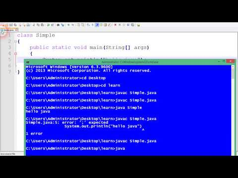 how to create simple program in java and compile and run lecture#2