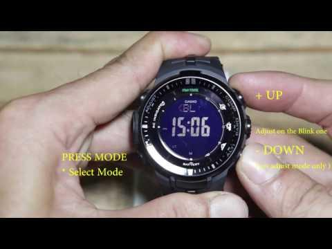 Casio Protrek PRW-3000 basic setting