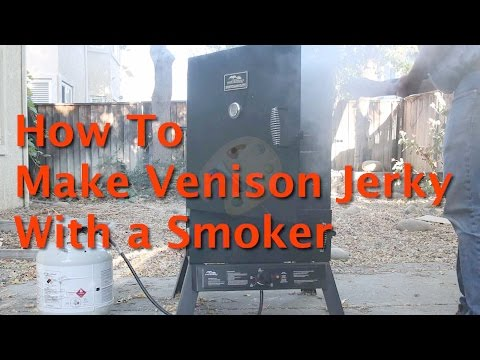 Making Venison Jerky in a Smoker!
