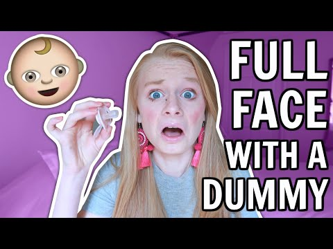 FULL FACE USING ONLY MY BABY SISTER'S DUMMY! 👶 *so bad*