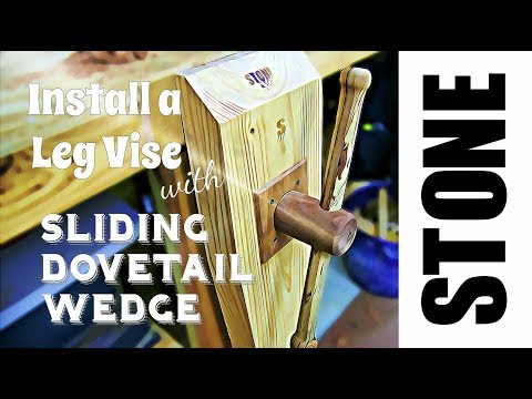 How to Install a Leg Vise - Woodworking Vise