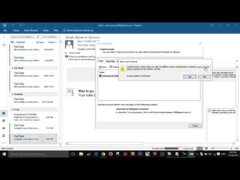 Microsoft Outlook| How to remove Gmail account from Microsoft outlook 2016
