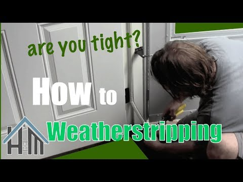 How to replace exterior door weatherstripping. Easy. Home Mender