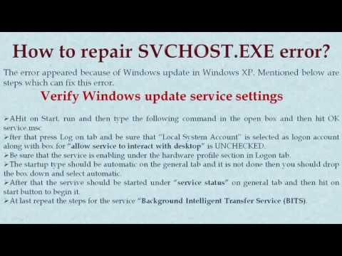 How to Fix SVCHOST.EXE Application  Error 0x745f2780