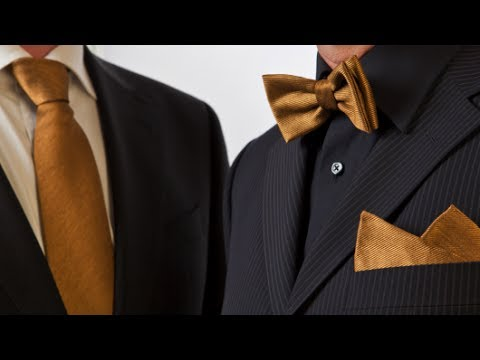 Turn a Neck Tie to a Bow Tie (EASY and AUTHENTIC-looking) with Jimmy Lard - The Sock Snob
