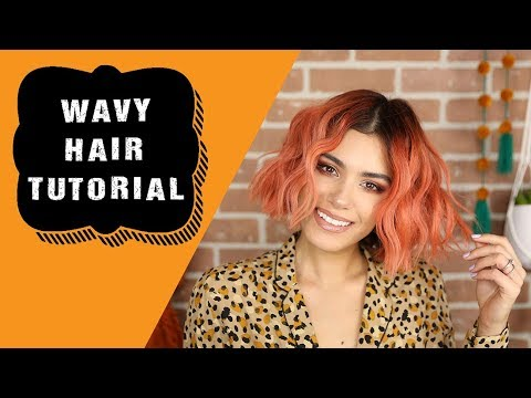 Wavy Hair Tutorial for Short Hair