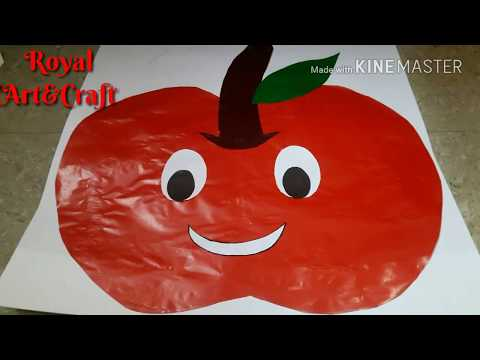 Fruit Activity For School fun !! Apple Activity By Chart Paper For Project Fun !! Project Work#13