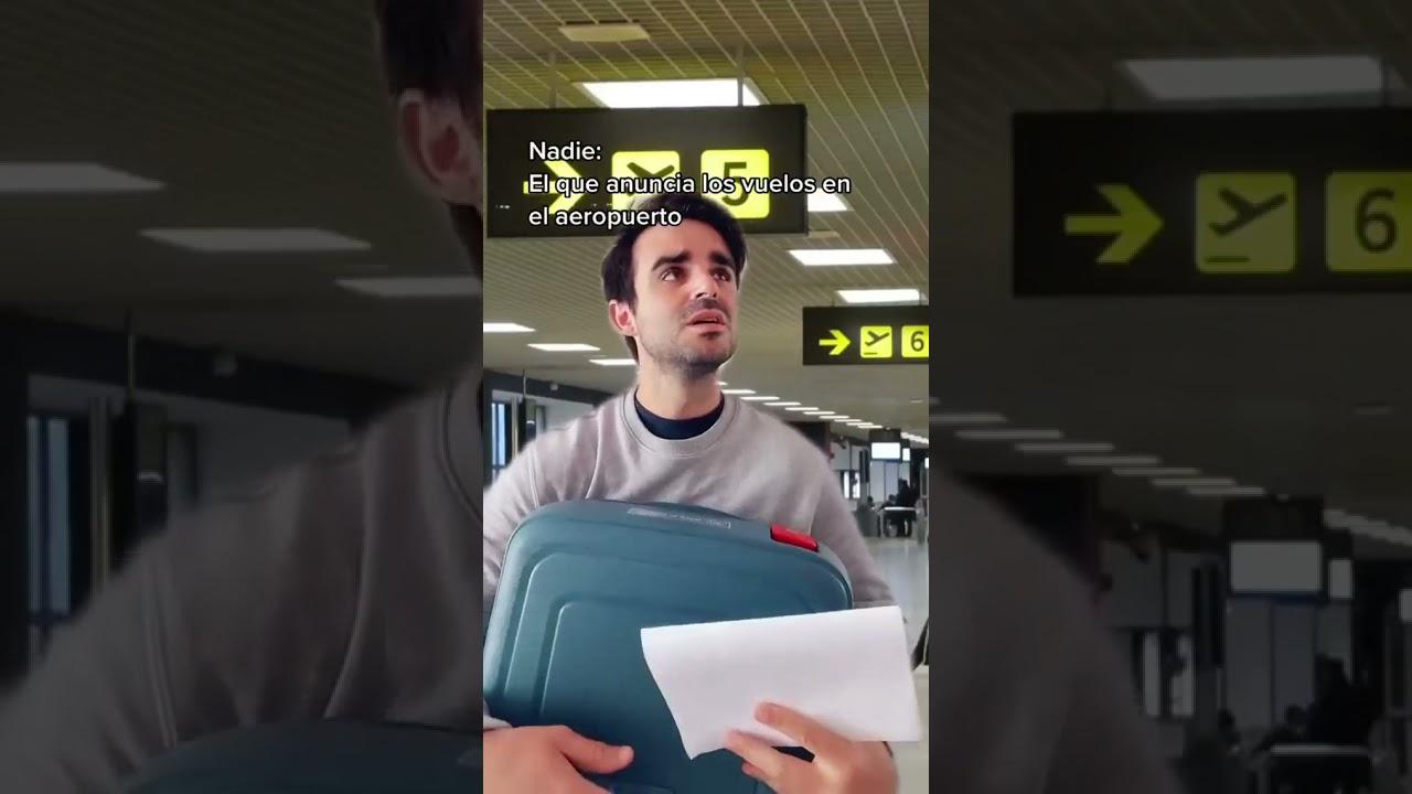 él que anuncia los vuelos en él aeropuerto