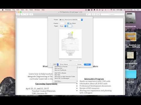 Save One Page of a Multi Page PDF on an Mac Apple Computer