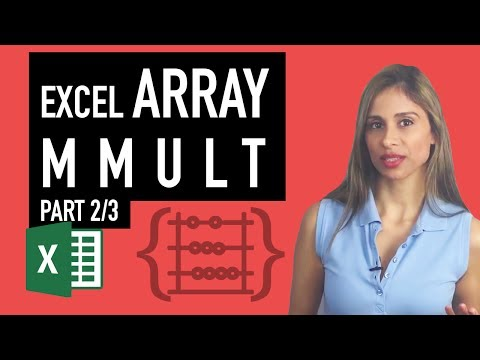 Excel Array Formula: Count Rows with OR Condition - Excel MMULT Function (Part 2/3)