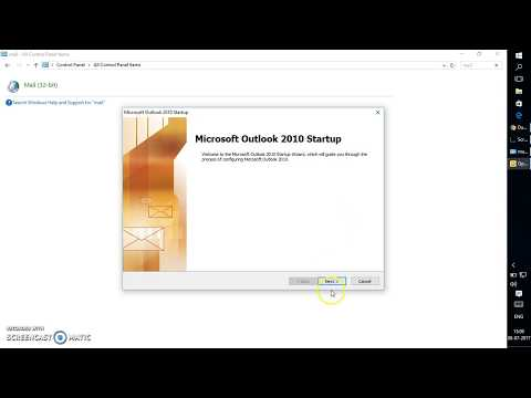 How to create Outlook Profile without an e mail account