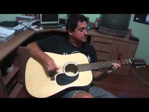 missed blues with 12 string acoustic guitar with capo on 3rd fret dgdfbd tuning