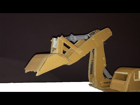 How To Make A Syringe Operated Hydraulic Excavator |jcb|  with cardboard