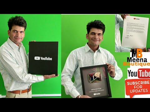 YouTube Creator Award 2018 New Silver Play Button Unboxing  in Hindi