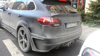 Jérôme Boateng starting up his Cayenne Lumma CLR 550 GT and gets out of parking spot! 1080p HD!