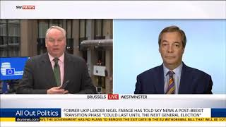 Nigel Farage Takes on Lefty Presenter on Brexit Popularity