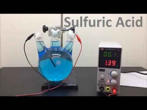 Making Sulfuric Acid by Electrolysis
