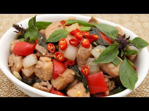 Thai Basil Chicken (Ga Xao La Que)