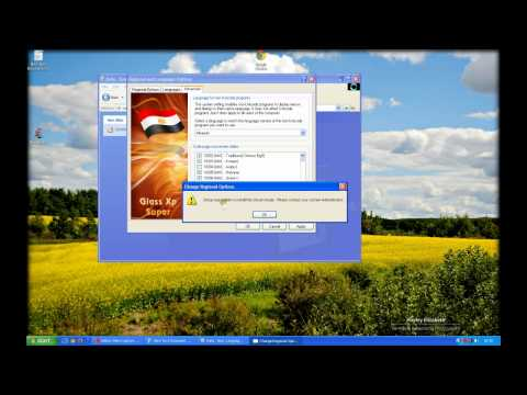 How to Change the Language on Windows XP Proffesional (the trick)
