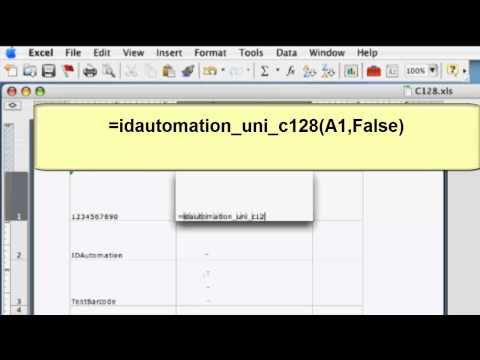How to Create Barcodes in Microsoft Excel for Mac 2004 & 2011