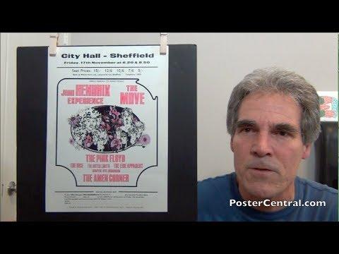 Jimi Hendrix 1967 U.K. Concert Flyers w/Pink Floyd, The Move