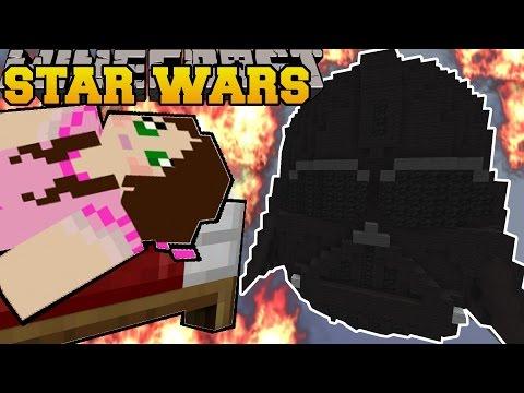 Minecraft: BURNING STAR WARS (DARTH VADER, LIGHTSABER, & BB-8!) Mini-Game