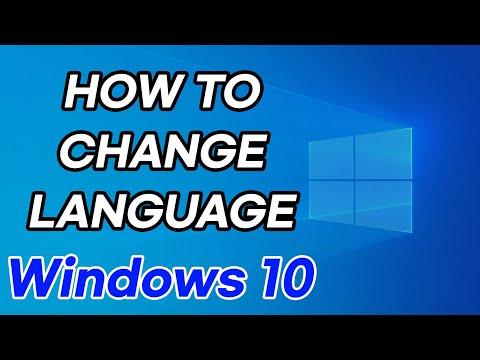 How to Change Windows 10 Language (ex. Korean to English, French, Turkish, Chinese)
