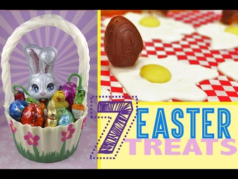 7 Easter Dessert Ideas - Candy Baskets, Cupcakes, Push Pops and Creme Eggs!