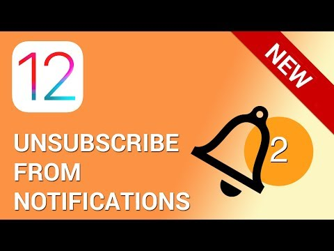 How to unsubscribe from notifications in 5 seconds in iOS 12
