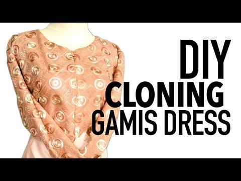 DIY CLONING GAMIS DRESS | MENJAHIT GAMIS