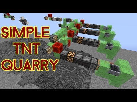 Simple TNT Quarry! 1.12 Vanilla Survival