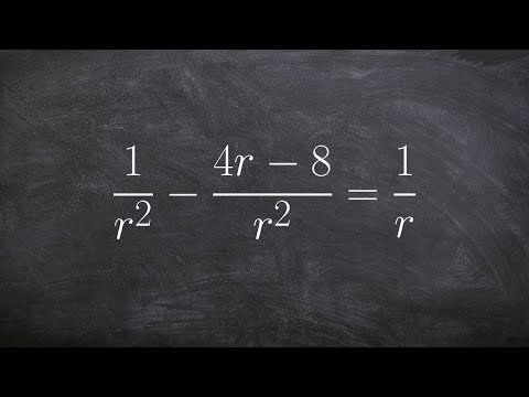 Solve an equation with rational terms