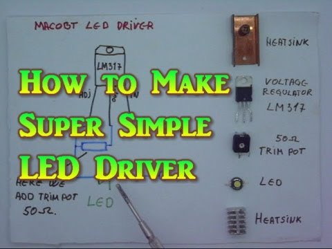 How to make Super Simple LED Driver or Laser Driver