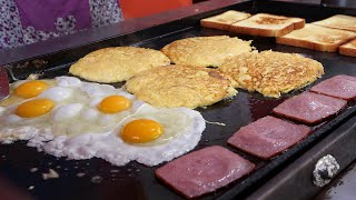 egg fried cheese toast 2,500KRW / korean street food