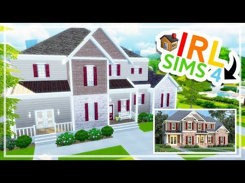 IRL to THE SIMS 4 | Large Suburban House Build