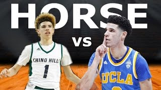 Lonzo Ball and Lamelo Ball Play Horse In Real Life